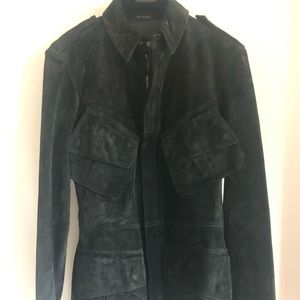 Gucci Suede Belted Safari Jacket Size 46 IT